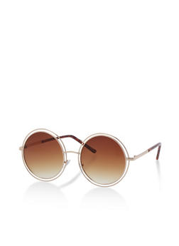 Round Double Frame Sunglasses - 3133073214343