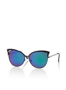 Cat Eye Mirrored Sunglasses - 3133073217413