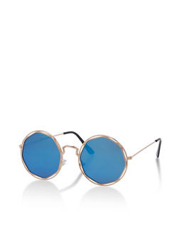Round Geometric Sunglasses - 3133073218571
