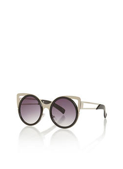 Round Cutout Cat Eye Sunglasses - 3133073911618