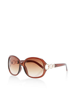 Metallic Side Links Sunglasses - 3134004260054