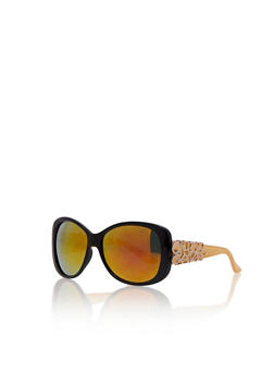 Sunglasses with Filigree Detail - MUSTARD - 3134004264398