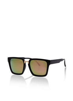 Square Sunglasses with Metal Accent - 3134071210440