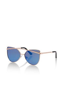 Mirrored Cat Eye Sunglasses - 3134071213049