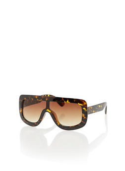 Plastic Shield Sunglasses - 3134073219057
