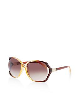 Square Cut Out Sunglasses - 3134073896321