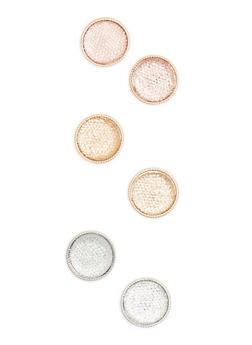 Rhinestone Disc Earrings - 3135035150599