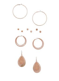 Assorted 6 Piece Earrings Set - 3135035153718