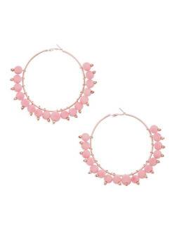 Pom Pom Hoop Earrings - 3135035156901