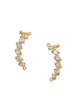 Rhinestone Ear Cuff Earrings - 3135057691464