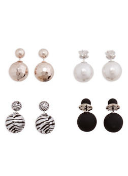 Large Double Sided Ball Earrings - 3135057696660