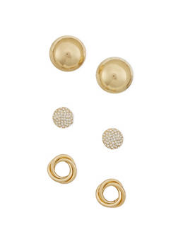 Set of 3 Sculptural Earrings - 3135062811385