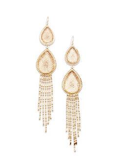 Chandelier Earrings with Teardrop Design - 3135062819062