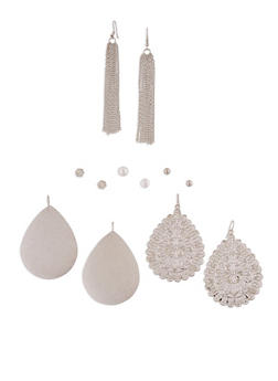 Set of 6 Stud and Drop Earrings - 3135062819254