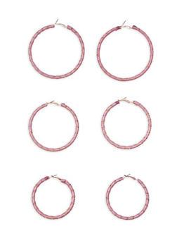 Trio Wrap Hoop Earrings - 3135062921900