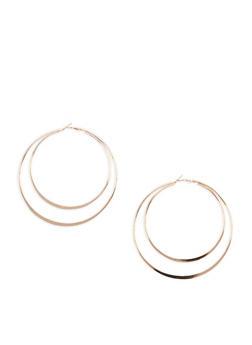 Extra Large Double Edge Hoop Earrings - 3135062922249