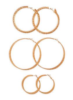 Trio Layered Hoop Earrings - 3135072373111