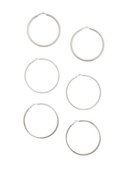 Large Hoop Earring Trio - 3135072691660