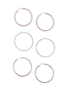 Large Hoop Earring Trio - 3135072691660