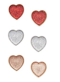 Trio Heart Stud Earring Set - 3135072697367