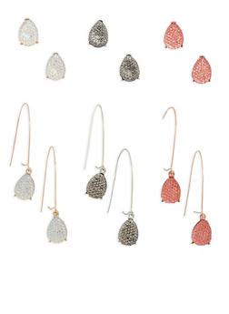 Rhinestone Teardrop Earrings - 3135072697997