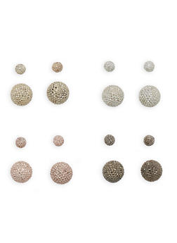 Rhinestone Dome Mix and Match Earrings - 3135074148251
