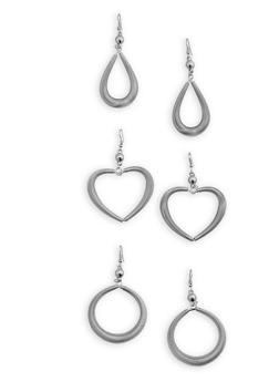 Coiled Drop Earrings Trio - 3135074173001