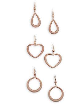 Coiled Drop Earrings Trio - 3135074173001