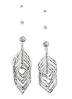 3 Piece Assorted Drop and Stud Earrings - 3135074175036