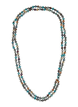 Glass Beaded Necklace - 3138018431534