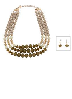 Beaded Bib Necklace - 3138035154802