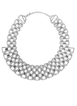 Glitter Metallic Necklace - 3138059635078