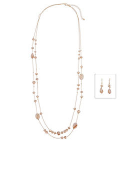 Beaded Necklace and Earrings Set - 3138062810375