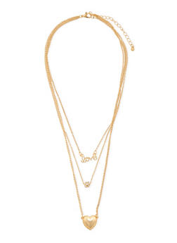 Tiered Necklace with Varied Charms - 3138062812197