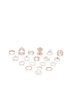 Assorted Rings Set of 18 - 3138062921156