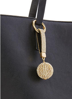 Rhinestone Ball Keychain - 3138062929002