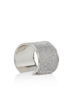 Rhinestone Cuff Bracelet - 3138071210319