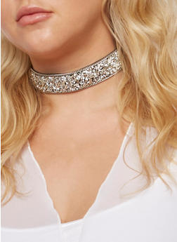 Beaded Choker Necklace - 3138071215192