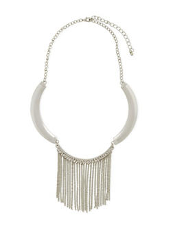 Collar Necklace with Fringe Accents - 3138072693340