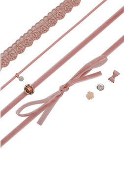 Trio Assorted Choker and Earring Set - 3138072694467