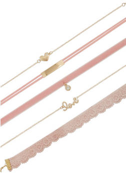 Set of 5 Assorted Chokers - 3138072695418