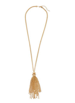 Chain Tassel Necklace - 3138072697180