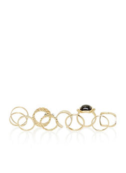 Set of 9 Assorted Rings - 3138073281123