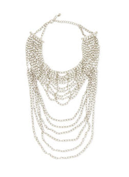 Chain-Link Necklace with Bound Multi-Strands - 3138073282845