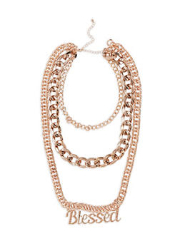 Blessed Layered Chain Necklace - 3138074174019