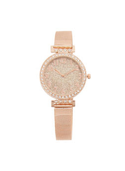 Thin Metallic Mesh Glitter Watch - 3140071430851