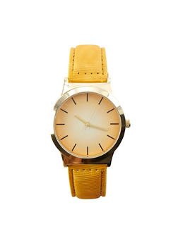 Ombre Face Textured Faux Leather Watch - 3140071431306