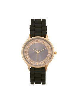 Rhinestone Silicone Watch - 3140071431909