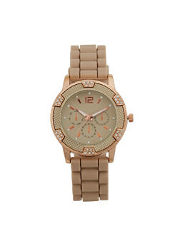 Rhinestone Silicone Watch - 3140071432262