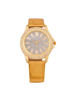 Mirrored Metallic Rhinestone Watch - 3140071432363